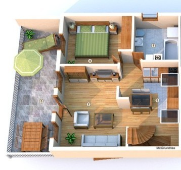 Grundriss A2, Wohnung, Grundstück