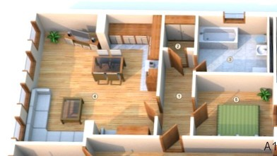 Grundriss A1, Wohnung, Urlaub
